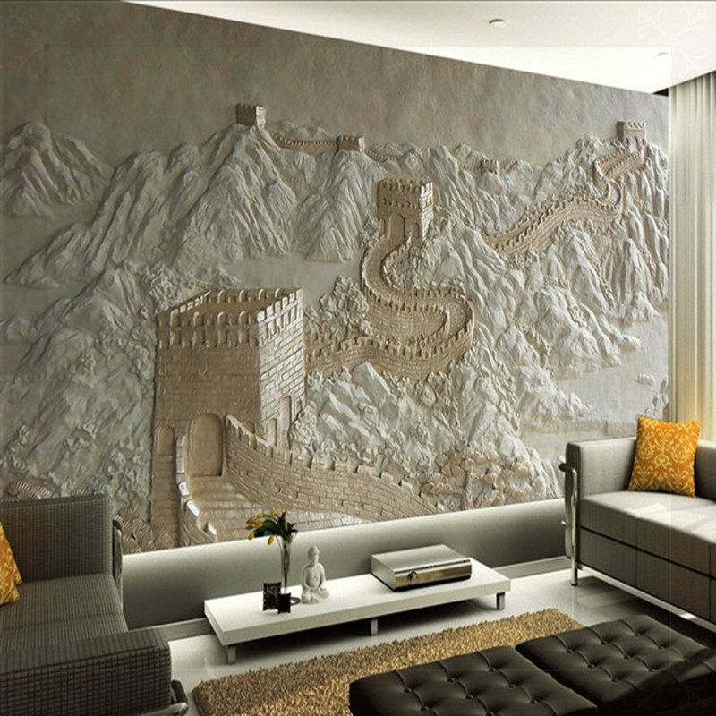 3d Mural Wallpaper For Bedroom Of 3d Wall Murals Wallpaper Great Wall Landscape For Living