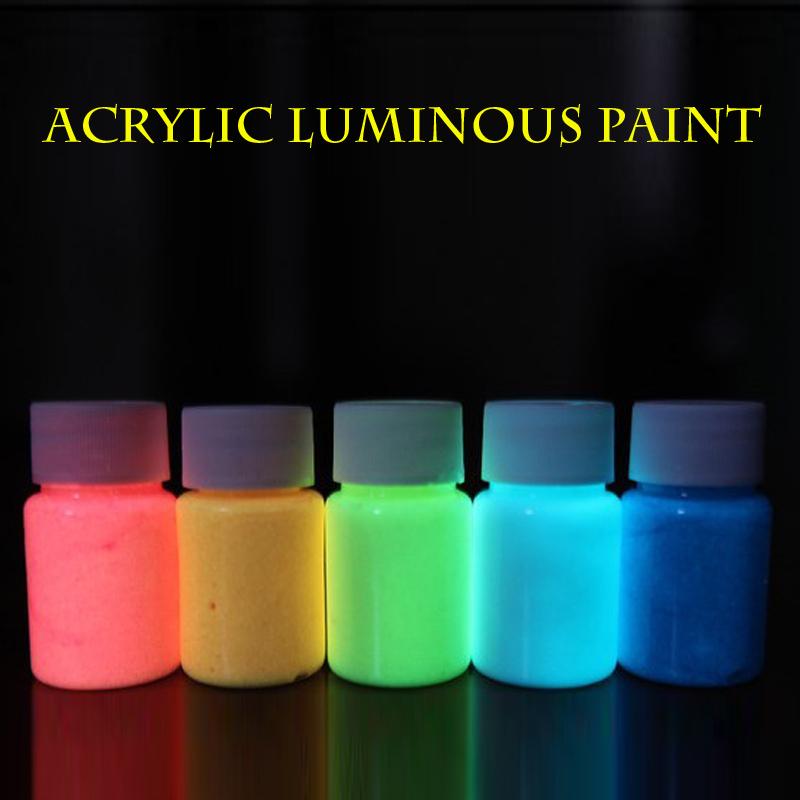 Water Based Acrylic Luminous Paint 7colors Set Highly Luminova Paint Diy Material Paste Luminous