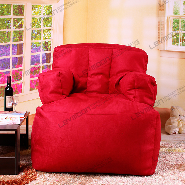 FREE SHIPPING bean bag store SUEDE red bean bag without filling light blue giant bean bags baby bean bag chair(China (Mainland))