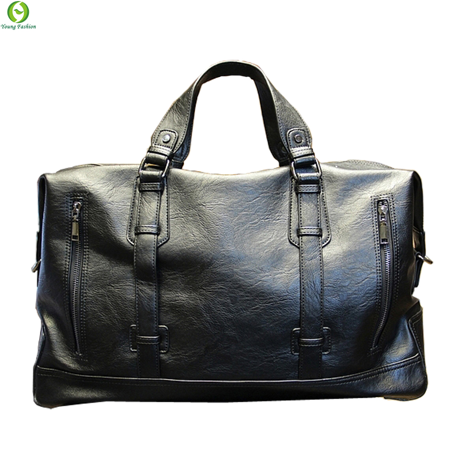 Fashion Men's Travel Bags Brand luggage Waterproof suitcase duffel bag Large Capacity Bags casual High-capacity leather handbag(China (Mainland))