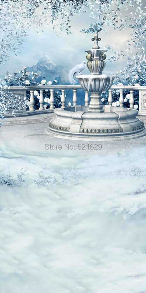 Snow Covered Tree 10x20 CP Computer-painted Scenic Photography Background Photo Studio Backdrop L-860<br><br>Aliexpress