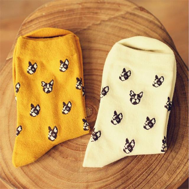 Марка Caramella милая собака носки женщины и мужчины каваи доберман мультфильм долго носок зима осень новинка чистый хлопок носки