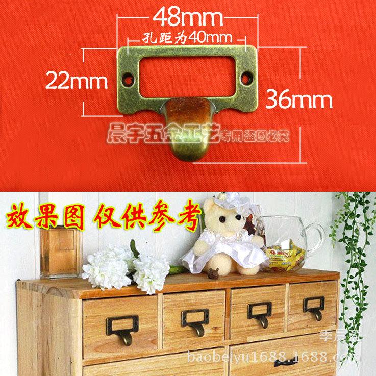 K107 label handle label box business card holder business card box handle zinc alloy handle small waterproof drawer tag<br><br>Aliexpress