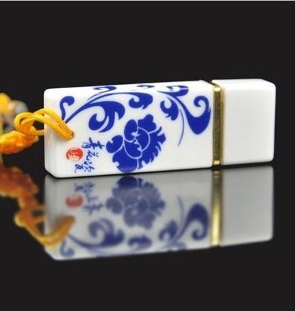 Blue&White Porcelain Fashion Ceramic Memoria Usb Flash Drive 512GB Gift Usb Stick 2.0 Pen Drive 64GB 32GB Gift Pendrive 1TB 2TB(China (Mainland))