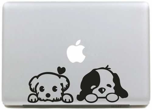 Love Baby Dog Sticker for apple macbook Decal air 11 12 13 pro 13 15 17 retina Pegatinas Computer Wall Car Stickers Vinyl Skin(China (Mainland))