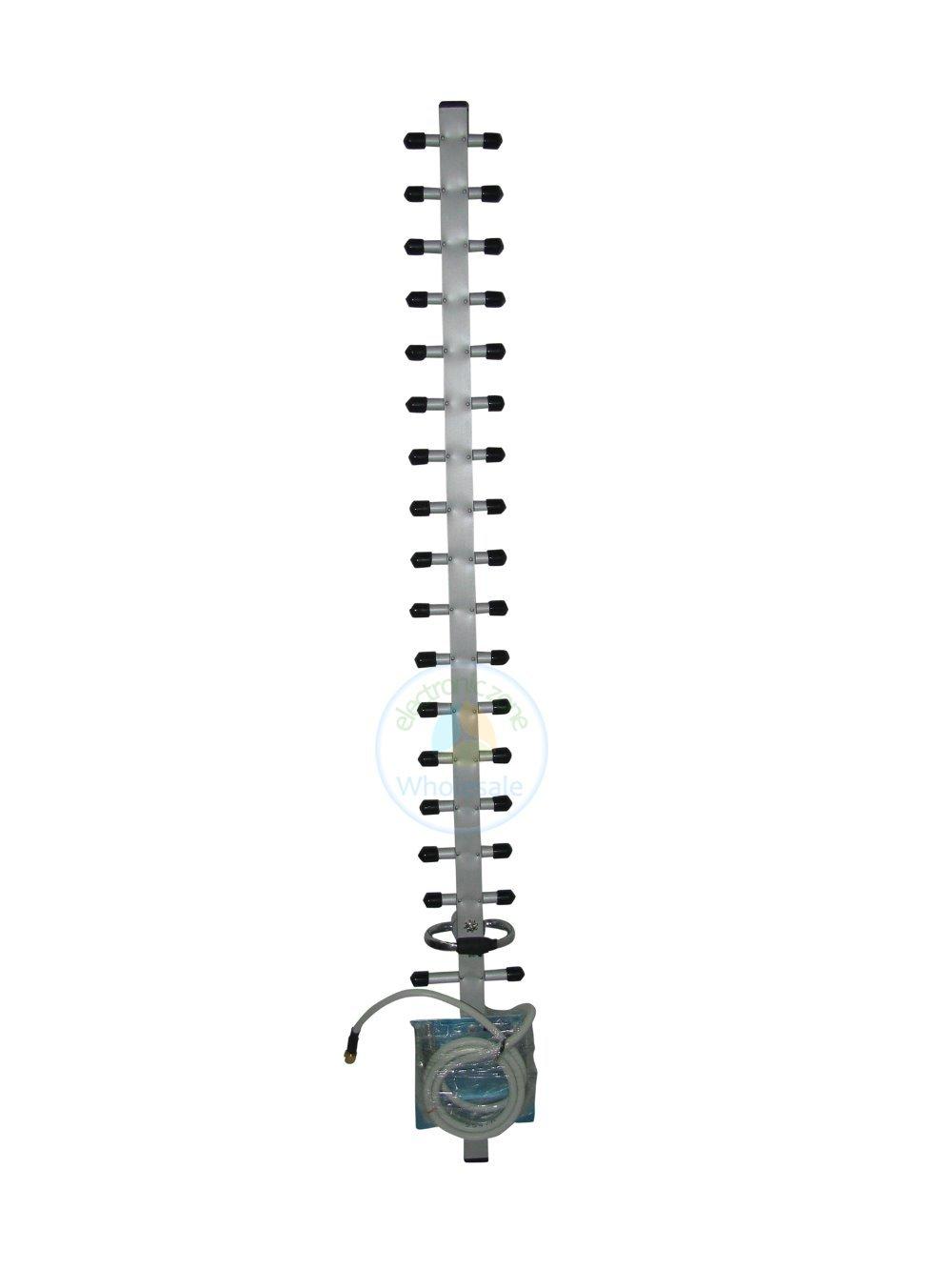 2pcs 2.4G 18dBi Yagi WiFi Antenna RP-SMA for Linksys D-Link Buffalo DD-WRT Tomato Pair(China (Mainland))