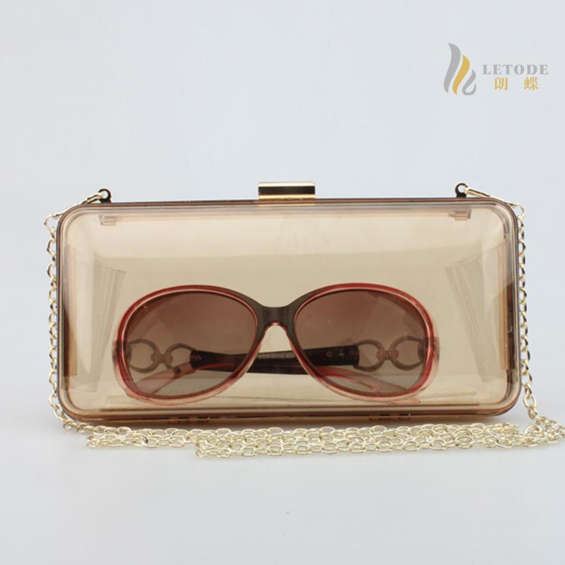 High quality women shoulder bag beach wedding Transparent Acrylic brand luxury chain handbags famous designer femme bolsos 5003(China (Mainland))