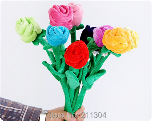 Roses Valentine S Day With Stuff Toys : Free shipping plush roses toys one peice retail valentine