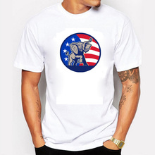 2016 Donald Trump T Shirt Men USA President Candidate Republican Election Campaign Vote Election Fitness Cotton White Tshirts(China (Mainland))