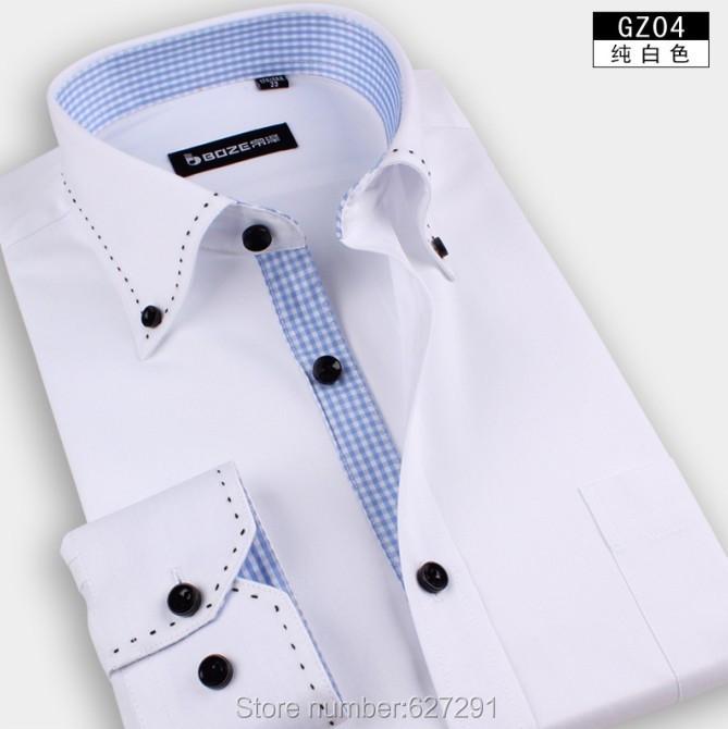 Khaki-Free-Shipping-Mens-Shirts-Designer-Brand-Slim-Fit-Shirt-For-Men-Business-Casual-long-sleeve-men