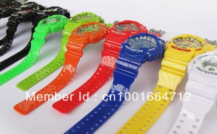 New style shocking sports watch resist wristwatch free shipping fashion men's sport watches,ga120 watch ga 120