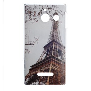 Effiel Tower Butterfly Cover Case for Huawei Ascend U9508 U8825D NOKIA N900 Cartoon Cover with Free Film(China (Mainland))