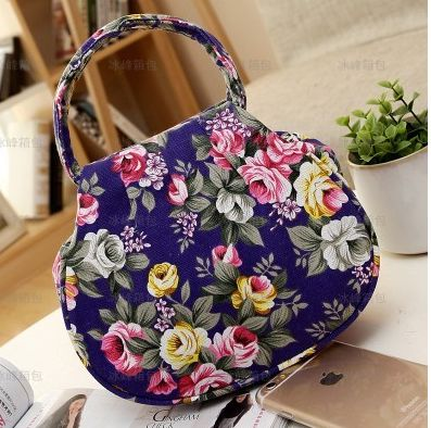 Women handbags bow round chain messenger bag lovely small package broken flower small handbag(China (Mainland))
