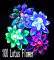 100 LED Lotus Flower Lighting Decoration for House Christmas Garden Party Patio Lawn Fence Holiday and