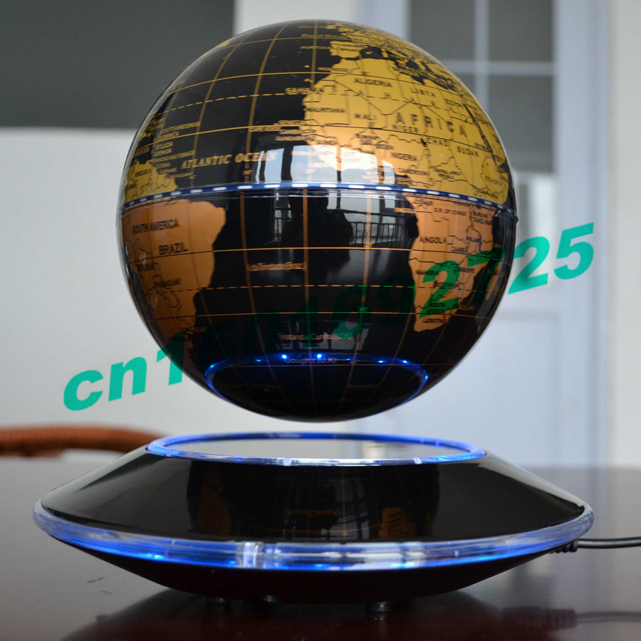 6 Inch Creative Electronic Magnetic Levitation Floating Globe World Map with LED Lights Christmas Birthday Home Decoration New(China (Mainland))