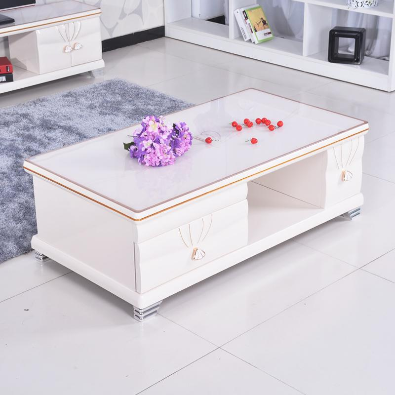 Table basse verre monsieur meuble for Table de salon moderne blanc