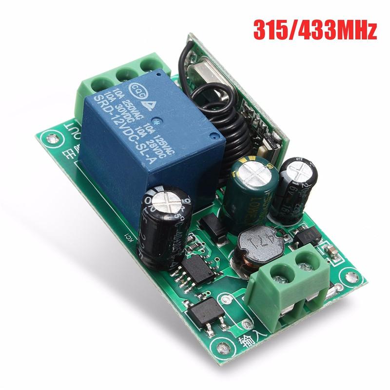 220V 1 Channel Wireless Relay RF Remote Control Switch Heterodyne Receiver 315/433MHZ(China (Mainland))