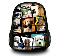 Many Dogs 15 inch Canvas Computer Tablet Backpack School Travel Shoulder Bag Gifts Women Large Capacity - NO:1 BAG SHOP store