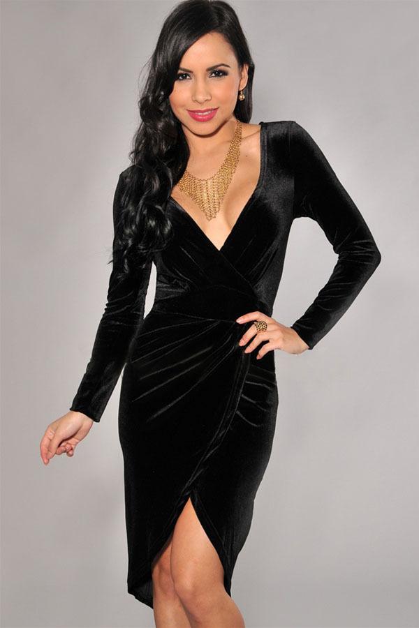 black v neck dresses for women « Bella Forte Glass Studio