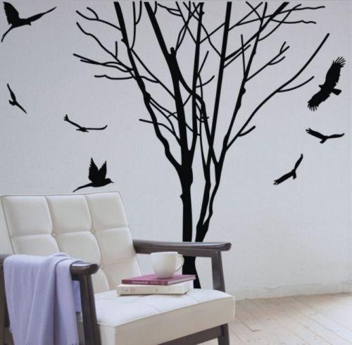 Achetez en gros tronc d 39 arbre decal en ligne des for Decalque mural