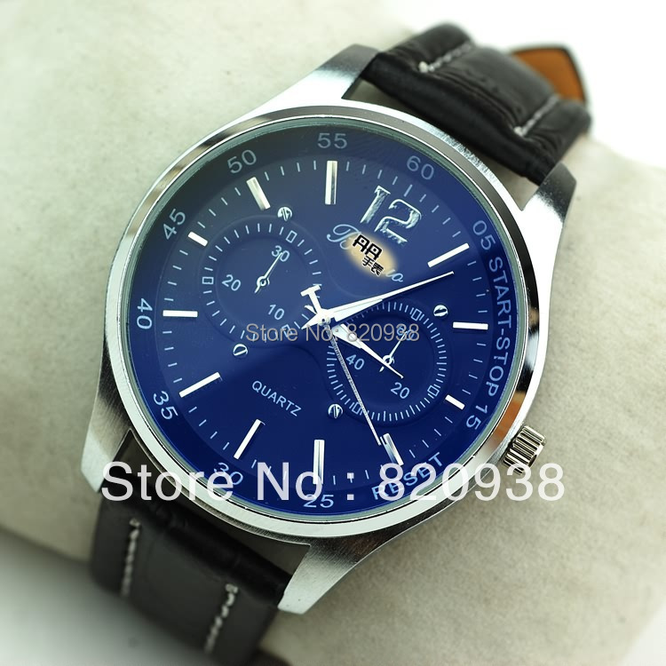 2013 watch market watch domineering Classic absolutely handsome belt male table the imported quality factory super cheap(China (Mainland))