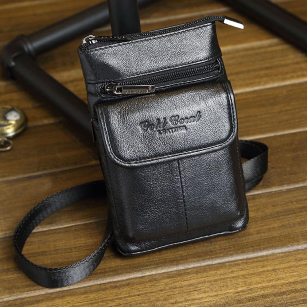 New Men's Vintage Genuine Leather Cowhide Hook Belt Buckle Shouler Messenger Crossbody Fanny Waist Bag Wallet Belt Pouch Hiking(China (Mainland))