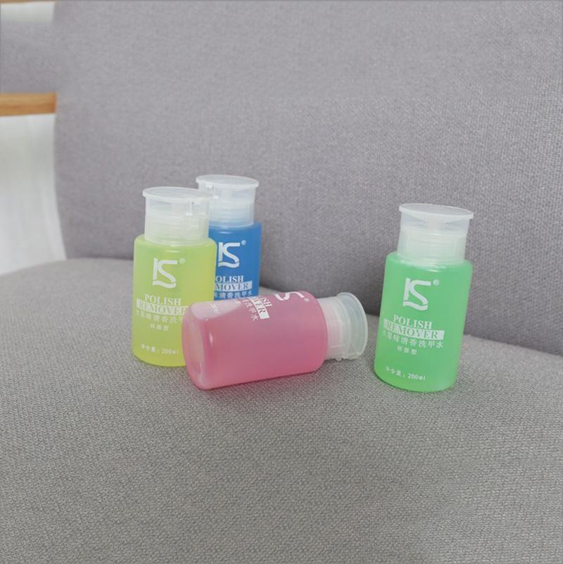 IS Brand Nail Polish Remover Fruit Fragrance 200ml 4 Smell Apple Lemon Strawberry Blueberry UV Gel Nail Art Cleaner Cleanser 1Pc(China (Mainland))