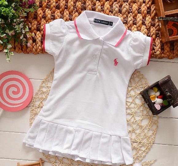 Baby Dress(1-5y) New Spring Summer 2015 Infant Girls Brand Polo Dress children/kids Princess tennis One-piece Dresses(China (Mainland))