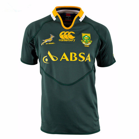Springboks South Africa Rugby Jersey Men High Quality Jersey Rugby Shirt LOGO Printed A++ Top Quality(China (Mainland))