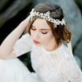 2016 Handmade Crystal Bridal Headband Tiara Silver Wedding Hair Accessories Elegant Headpiece Pearls Women Hair Jewelry