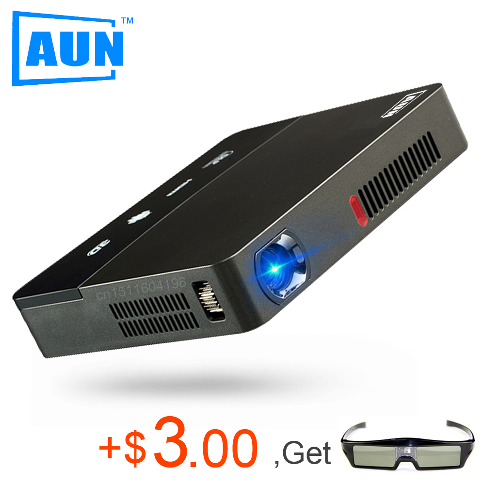 AUN Projector 1280*800 AKEY Y6 Android Projector Set-in 10,000mAH Battery, Bluetooth, WIFI, Support Airplay, Miracast LED TV(China (Mainland))