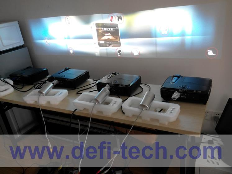 DEFI 4 screen Interactive floor system support 4 projectors including Edge Blending setting 12 effects(China (Mainland))