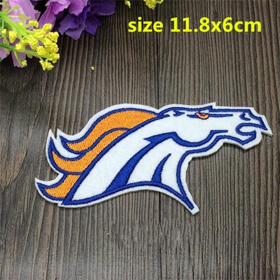 New arrival BRONCOS Football Team Sew on Patches Logo Woven label badge sign embroider Patch mark Appliques wholesale PT0905(China (Mainland))