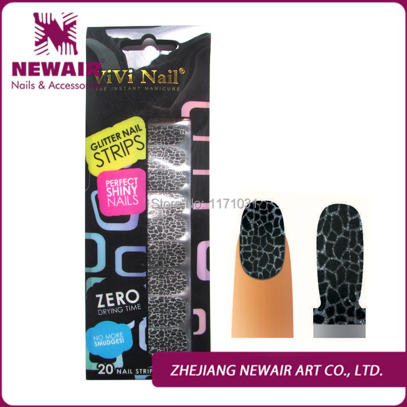 New Sex Product Silver Glitter Leopard Nail Polish Strips Glitter Nail Art Stickers High Quality Glitter False Nails Decorative(China (Mainland))