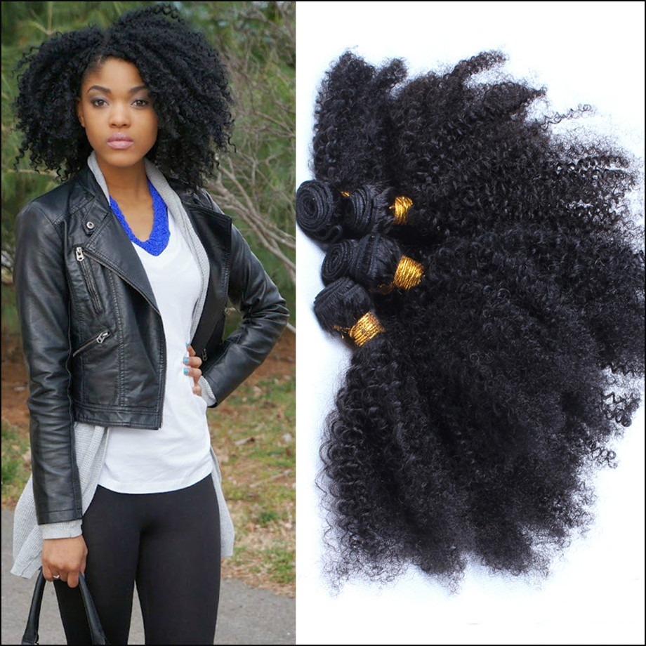 Black Curly Weave Hair Extensions