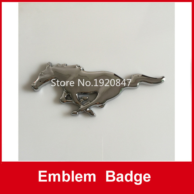 Auto Car 3D Metal Mustang Front Rear Side Trunk Emblem Badge Decal Sticker(China (Mainland))