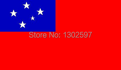 Free shipping 4ft x 6ft Hanging Flag Polyester Samoa National Flag Banner Outdoor Indoor 120x180cm(China (Mainland))