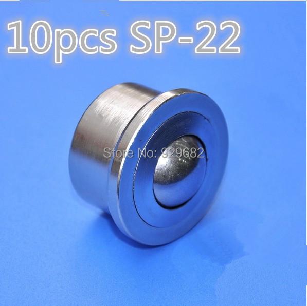 Free shipping 10pcs Loading capacity 160kg SP22 heavy duty ball transfer omni wheel universal ball bearings bull eye round ball(China (Mainland))