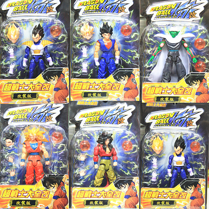 6pcs/set Dragon Ball Z PVC Figure Goku / Vegeta / Piccolo Super Soldier, Can Be Retrofitted 15cm High Toys Free Shipping(China (Mainland))
