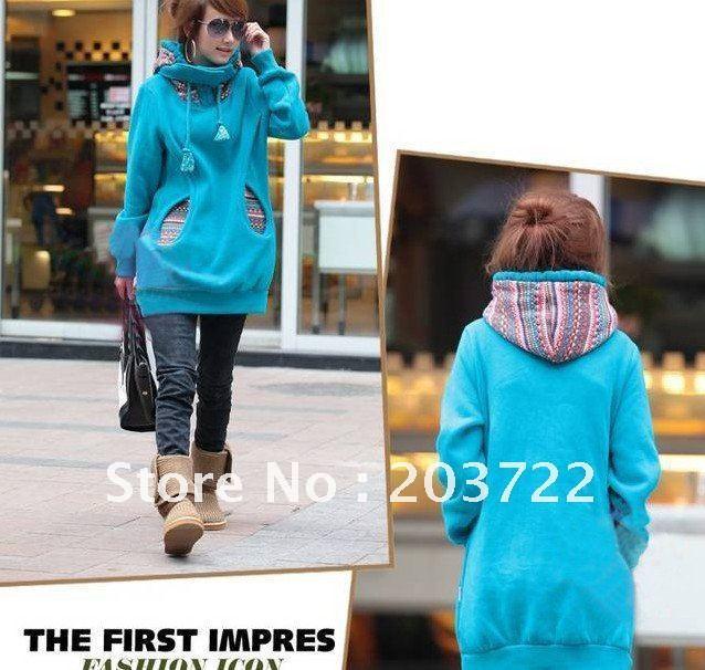 Retail 1pc/lot Floral Fashion Comfortable Casual Warm Fleece Hoddy Free Shippinbg Quality Guarantee