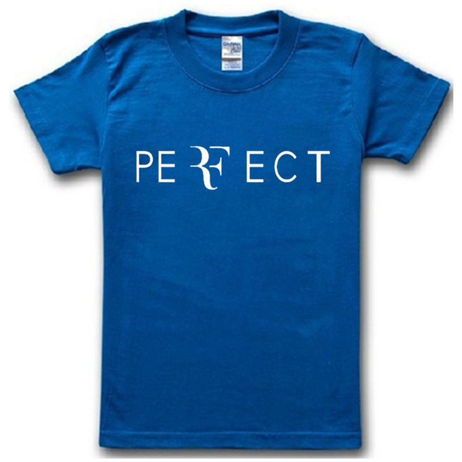 New brand 2015 summer famous tennis Federer RF perfect man t-shirt top tee short sleeve o neck letter print cotton t shirt(China (Mainland))