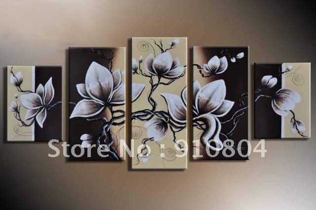 Framed Canvas Wall Decor : Framed panels huge wall art canvas oil