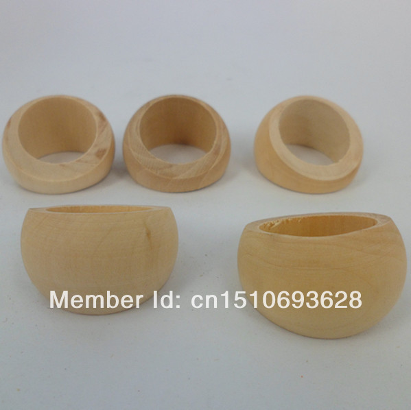 DIY Unfinished Wooden Ring 100pcs/lot BTY107(China (Mainland))