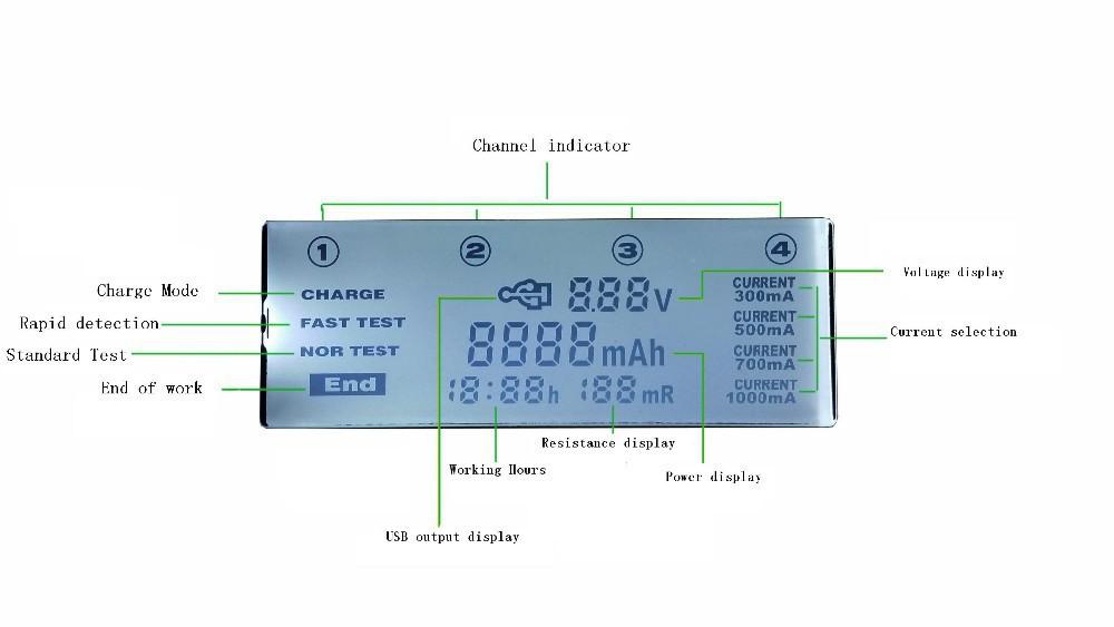 Liitokala lii 500 LCD 3 7V 1 2V AA AAA 18650 26650 16340 14500 10440 18500