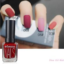 1pcs Bk Character Matte Gel Nail Polish Lasting Shine 15ml Nail Art  Black White 12 color Nail Polish(China (Mainland))