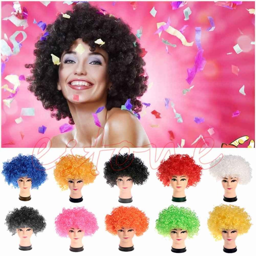 New Style Halloween Costume Holiday Clown Party Explosion Curls Wig Multicolor(China (Mainland))
