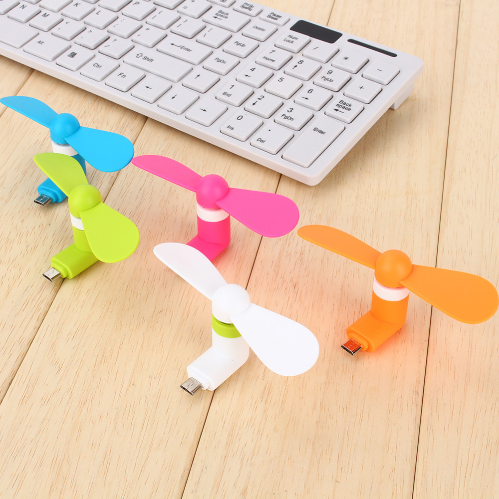 New Gadget Mini Portable Micro USB Fans For Samsung Universal Android Phone, 8 pin Fan For iPhone 6s 6 / 6s Plus 5s or 2 in 1(China (Mainland))