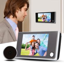 3.5 inch LCD 120 Degree Peephole Viewer Door Eye Doorbell Color IR Camera Free Shipping V1NF(China (Mainland))