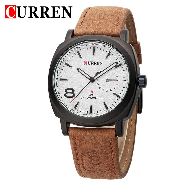 Curren 8139 luxury brand quartz watch Casual Fashion Leather watches reloj masculino men watch free shipping Sports Watches(China (Mainland))