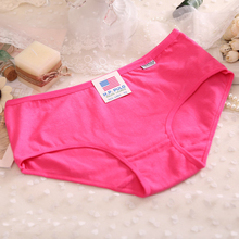 2014 New Plus Size Large Brand Candy Color Sexy Calcinha Female Underwear Women Cotton Women's Panties Butt Lifter Briefs(China (Mainland))